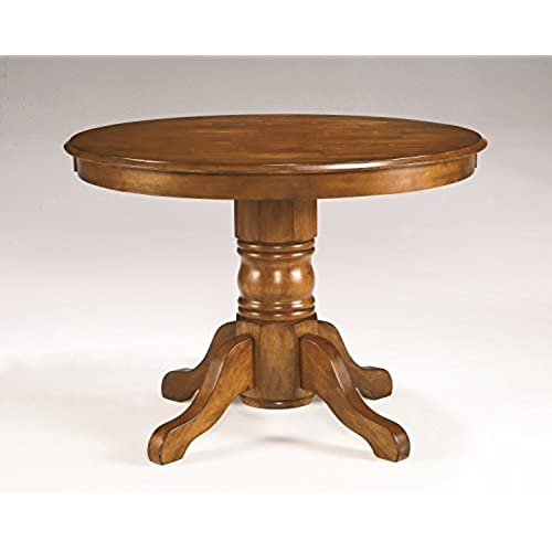 Home Styles 5179 30 Round Dining Table With Pedestal Base, Cottage Oak  Finish, 42 Inch By 30 Inch