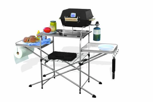 Camco Deluxe Folding Grill Table, Great for Picnics, Tailgating, Camping, RVing and Backyards; Quick Set-up and...