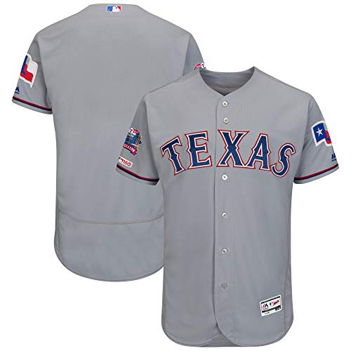 Men/Women/Youth Texas_Rangers_Gray Buttoned Baseball_Home_Jersey