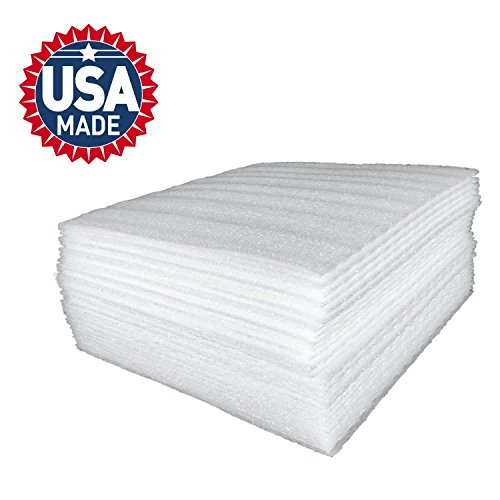 Cushion Foam Sheets 12' X 12' (50 Count), Safely Wrap Dishes, China, and Furniture, Packing Cushioning Supplies for Moving (50)