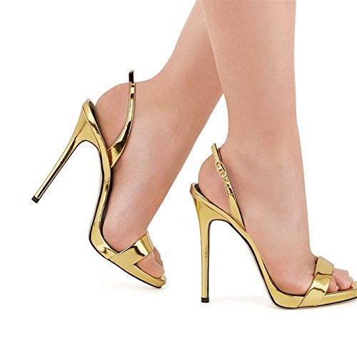 Party à Chaussures EU42 Escarpins Taille Club Sandales 35 Escarpins 44 Stiletto xie Femmes Robe GOLD pCxSngw