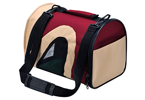 Cat Carrier Airline Approved Travel Portable Bag for Teacup Puppy Pet Red Small