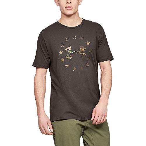 Under Armour Freedom Camo Logo T-Shirt, Maverick Brown (240)/Desert Sand, Large
