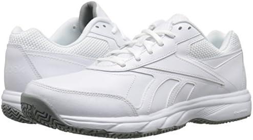 Reebok Mens Work N Cushion 2.0 WhiteFlat Grey Walking Shoes Size 11