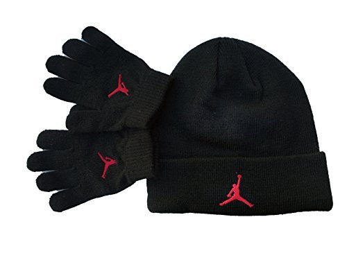 best service c6e8f d4d64 Nike Air Jordan Youth Boys 2-Piece Ski Cap Gloves Set, Black University  Red, 8 20 - Buy Online in Oman.   Apparel Products in Oman - See Prices, ...