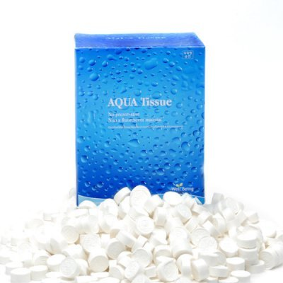 Aqua Tissue - FDA Approved Compressed Coin Towel - Eco Friendly Baby Wipe - 500 PCS