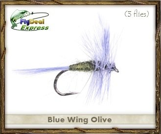 Fly Fishing Flies - BLUE WING OLIVE - Dry Fly (3-pack)