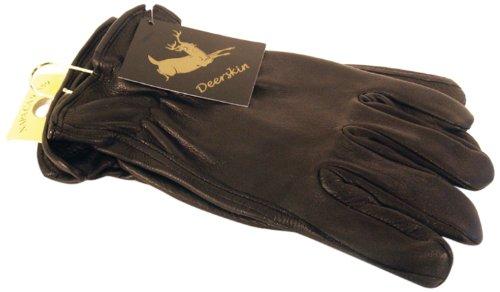 Unlined Leather Driver (Napa Deerskin Leather Driver Gloves (Black, Medium))