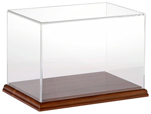 Plymor Brand Clear Acrylic Display Case with Hardwood Base, 9
