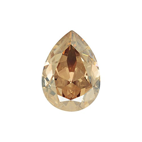 Swarovski Crystal, #4320 Pear Fancy Stone 18x13mm, 1 Piece, Crystal Golden Shadow F