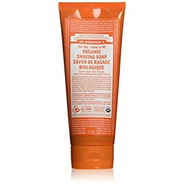 Dr. Bronner's Organic Tea Tree Shave Gel 200 g by Dr. Bronner 48 Natural or Organic Ingredients