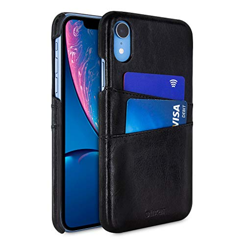 Iphone Executive Case - Olixar Farley iPhone XR Executive Wallet Case - PU Faux Leather - RFID Blocking - Slim Protective Cover - Card Storage Slots - Leather Style - Black