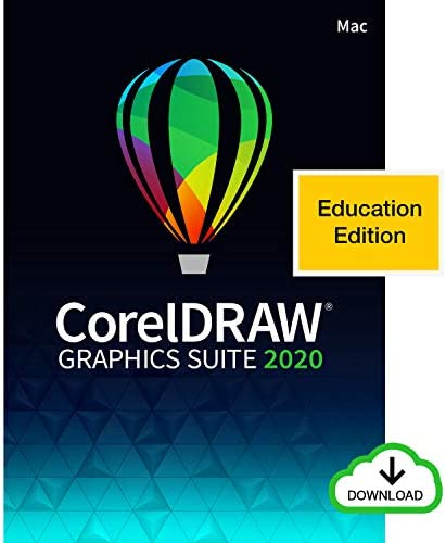 CorelDRAW Graphics Suite 2020 | Graphic Design, Photo, and Vector Illustration Software | Education Edition [Mac Download]