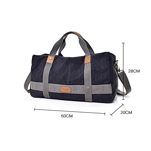 Gray Night At Gimitunus Women Luggage Weekender Duffel Large Canvas Women Men Bag Black Travel color Travel UcqSqf6w