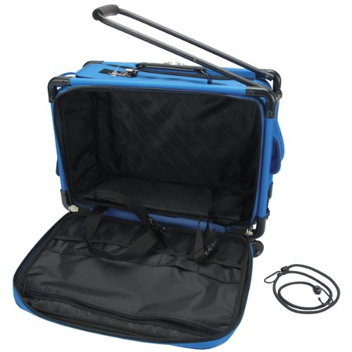 TUTTO Machine On Wheels Case 20''X13''X9''-Blue by Tutto