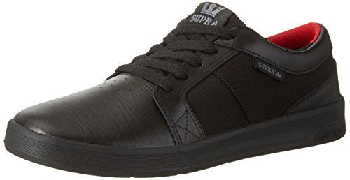 Black Ineto Supra Black Round Skate Shoe Toe Men Black Leather wPqn1UXq