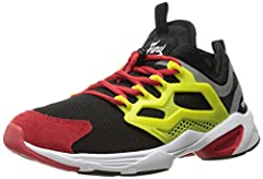 These Reebok fury adapt shoes feature a low-cut design and a pump P50 for a casual classic look with added mobility and a personal fit. An eva midsole is built in for shock-absorption, while the high-abrasion rubber outsole adds durability to...