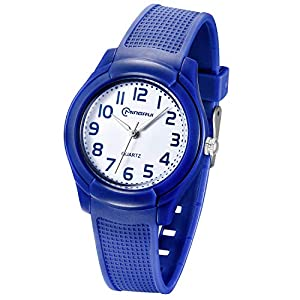 Kids Analog Watch,Girls Boys Waterproof Learning Time Wrist Watch Easy to Read Time WristWatches for Kids as Gift