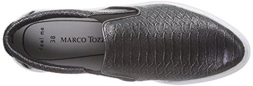 Pewter Zapatillas Plata Silber 946 casa mujer Tozzi 24603 de material Struct Marco de sintético Pwxzqffp