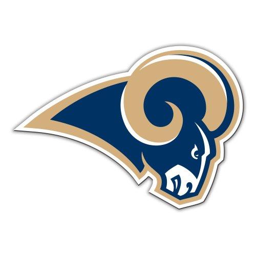 NFL Los Angeles Rams 12-Inch Vinyl Logo Magnet
