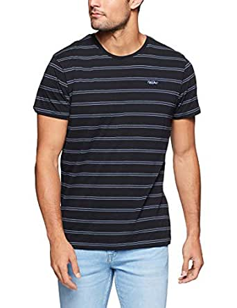 Mossimo Men's STD Issue Brooklyn Crew TEE, Black, XS