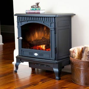 Dimplex Traditional Electric Stove, DS5629, Black (Best Rated Wood Burning Fireplace Inserts)