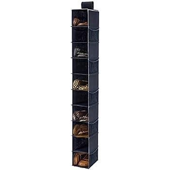 Delightful Hanging Shoe Organizer, MaidMAX Closet Hanging Shelf Shoe Holder Caddy Rack  With Velcro Top U0026