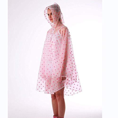 Cordón Con Lunares Hx Viaje Al Rain Aire Transparente Escoge Libre Ropa Moda Poncho Bike De Fashion Jacket Raincape 1 Basic Mujeres BZxnp6aqrB