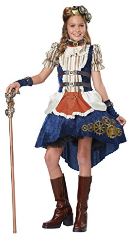 California Costumes Steampunk Fashion Girl Costume, Multi, -
