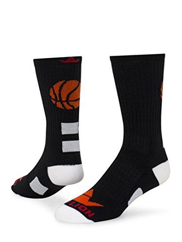 Baseketball Fast Break Red Lion Socks Crew Athletic socks ( Black / Orange - Medium )