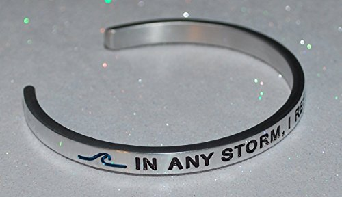In Any Storm, I Refuse To Sink / Engraved, Hand Made and Polished Bracelet with Free Satin Gift ()