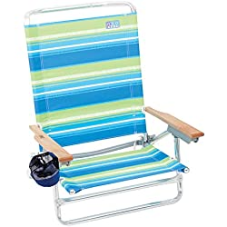 Rio Beach Classic 5 Position Lay Flat Folding Beach Chair - Sea Stripes