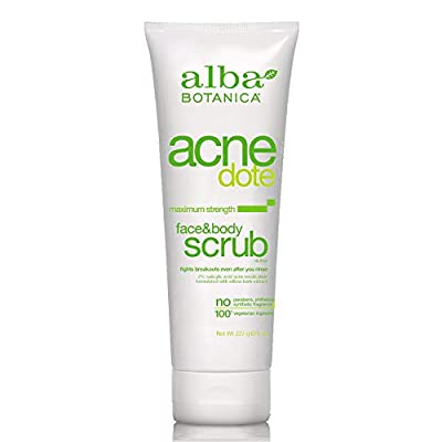 Alba Botanica Acnedote Face & Body Scrub, Maximum Strength 8 oz ( Pack of 3) from Alba Botanica