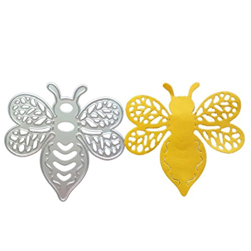 Metal Cutting Dies,Qpika Cutting Dies Cut Metal Scrapbooking Bee Butterfly Flower And Love Heart Stencils Nesting Die for DIY Embossing Photo Album Decorative DIY Paper Cards Making Craft (B)