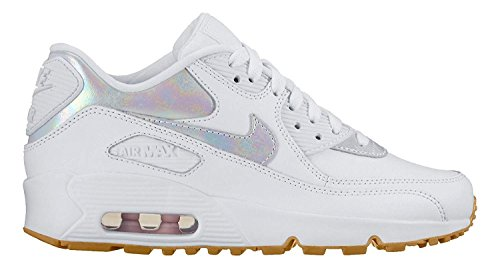 (NIKE Air Max 90 Leather SE GP 11.5 c White/White-Prism Pink)