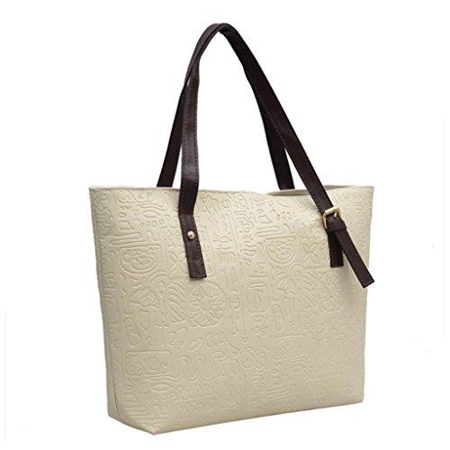 White Shoulder Cross E for Body Capacity TOPUNDER Handbags Bags Bag Women Ladies Large XXL AOSqd