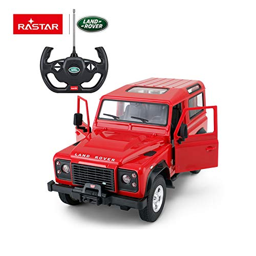 RASTAR Radio Remote Control 1/14 Scale Land Rover Denfender Licensed RC Model Car (Red)