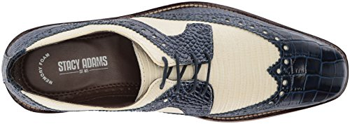 Stacy Adams Mens Gusto Wingtip Oxford Blue/Multi bYHDochUq