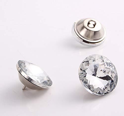 Maslin (1000PCS/LOT) 20MM Redbud Metal&Rhinestones Button Pierced Decoration Stone,Garment Accessories ()
