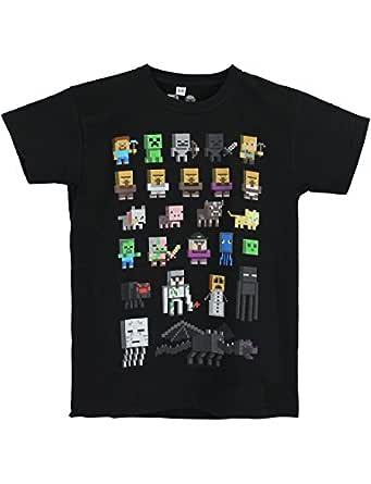 Minecraft Boys Short Sleeved T-Shirt (11-12 Years) Black