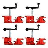 "YaeTek (4 Pack) 1/2"" Wood Gluing Pipe Clamp Set Heavy Duty PRO Woodworking Cast Iron"