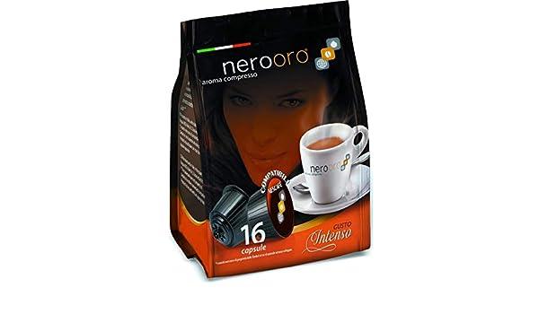 CAFÉ NEROORO - MISCELA ORO - 16 CÁPSULAS COMPATIBLES DOLCE GUSTO ...