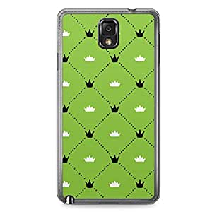 Floral Samsung Note 3 Transparent Edge Case - Green Black and White