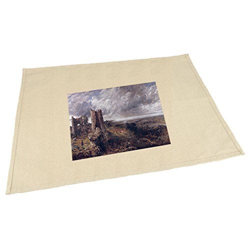Style in Print Hadleigh Castle (Constable) Cotton Canvas Placemat Table Mat (Castle Hadleigh)