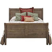 Jofran: 943-858687KT, Slater Mill, Queen Sleigh Bed, 63W X 84D X 54H, Medium Brown Pine Finish, (Set of 1)