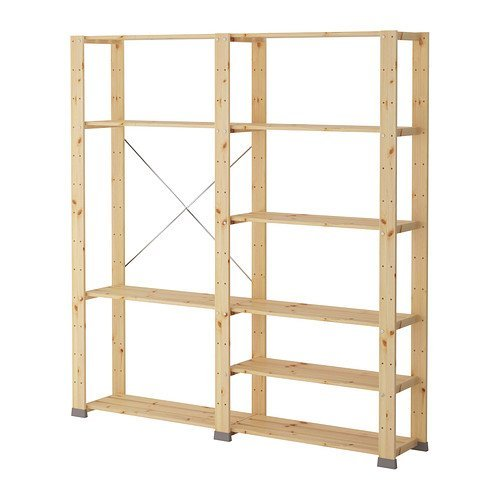 Ikea 2 sections, softwood 2202.11514.630