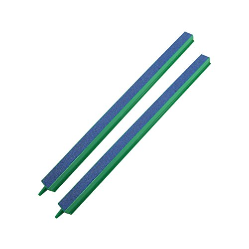 CNZ Fish Tank Air Bubble 2-Piece Air Stone Bars Green/Blue (12-inch)