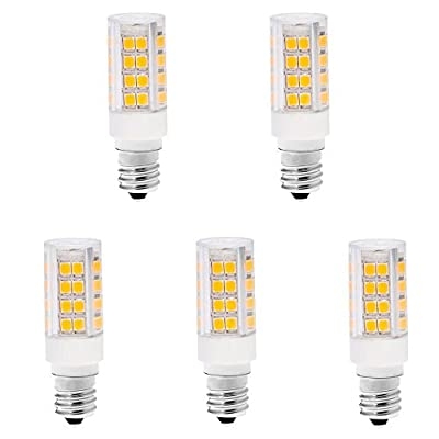 LanYue 120V T3/t4 Candelabra Base E12 led screw base Dimmable 3000K Warm White 4W Led mini bulb replace halogan lamp bulb 30W in Kitchen fixture or under cabinet fixture-5 pack