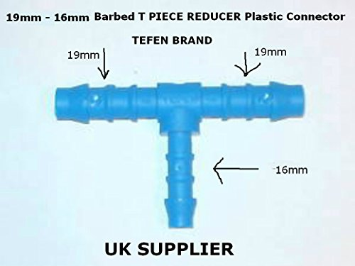5mm T Piece Pipe Connector Inline Hose Joiner Suitable For Air Water Fuel Oil