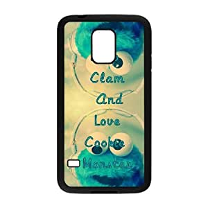 Personalized Durable Cases Jjjxe Samsung Galaxy S5 Mini Black Keep Clam And Love Cookie Monster Protection Cover